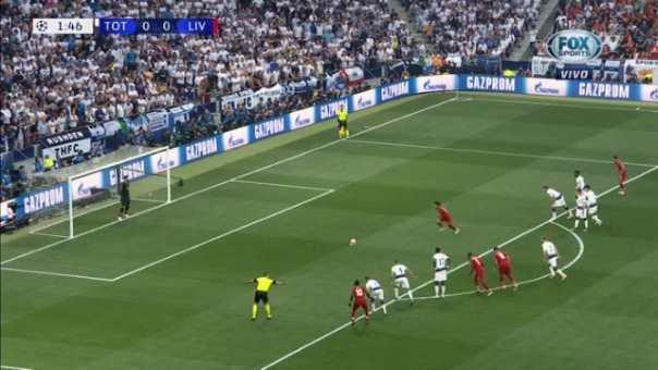 Así fue el penal convertido de Mohamed Salah ante Hugo Lloris.
