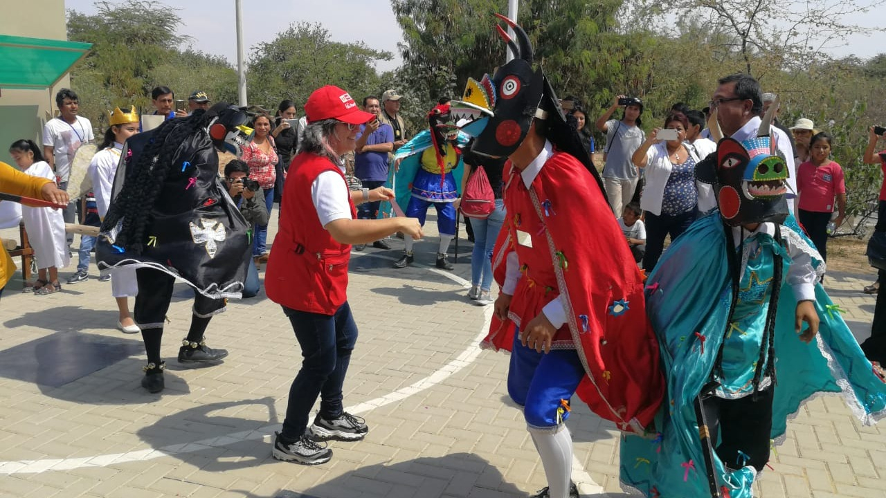 Ministra de Cultura bailó Danza de los Diablicos de Túcume