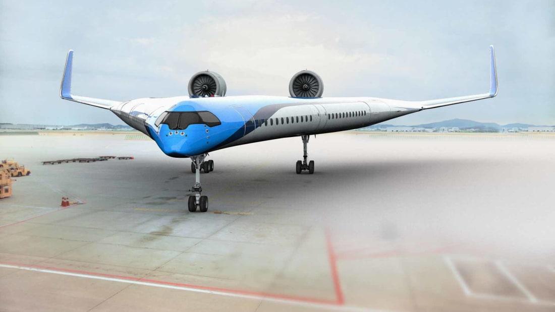 El futuro de la aviación comercial según KLM — Flying-V