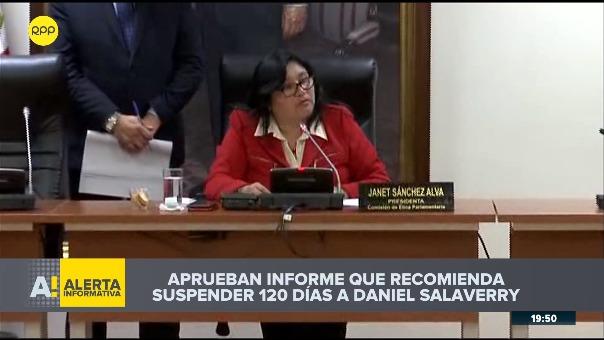 Así fue la votación en la Comisión de Ética para aprobar informe que recomienda suspender 120 días a Daniel Salaverry.