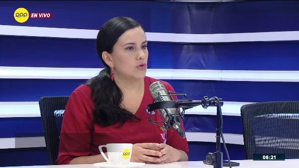 Verónika Mendoza, excandidata presidencial y lideresa del Nuevo Perú.