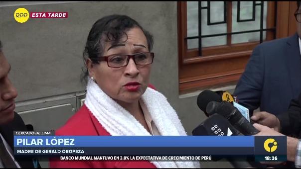 Pilar López, madre de Gerald Oropeza, enfrenta pedido de prisión preventiva.