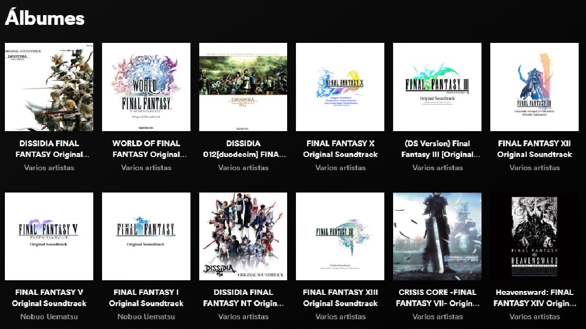 Toda la música de Final Fantasy está disponible en más de 45 álbumes.
