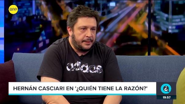 Hernán Casciari en el programa ¿Quién Tiene la Razón? en RPP.