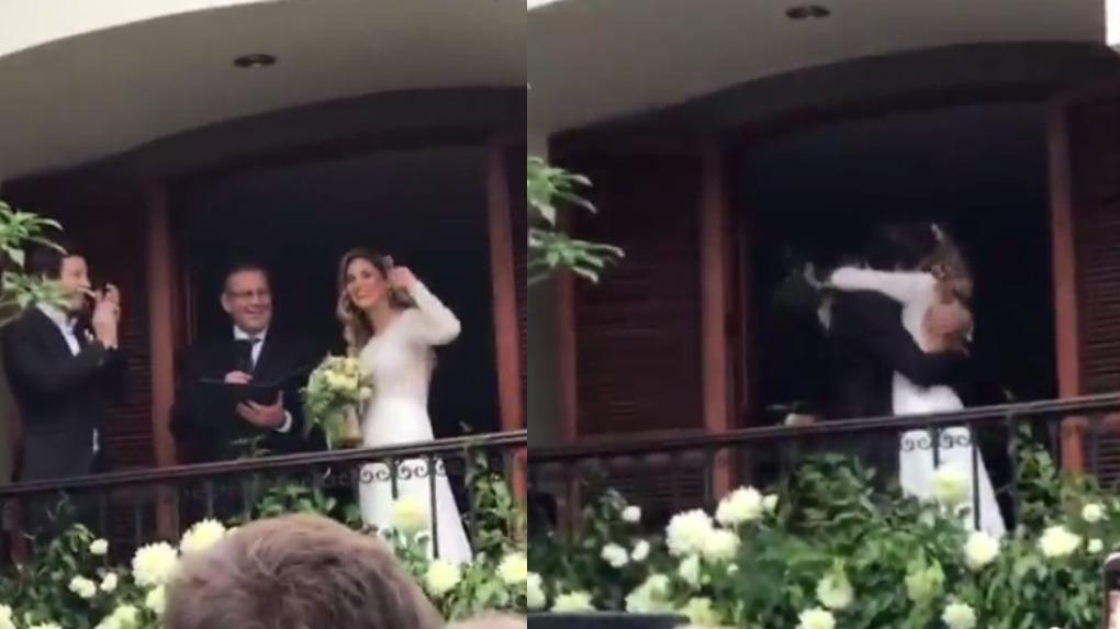 Así fue la romántica boda de María Grazia Gamarra y Heinz Gildemeister.