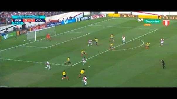 Yoshimar Yotún se lució en el partido entre Perú y Colombia con este taco.