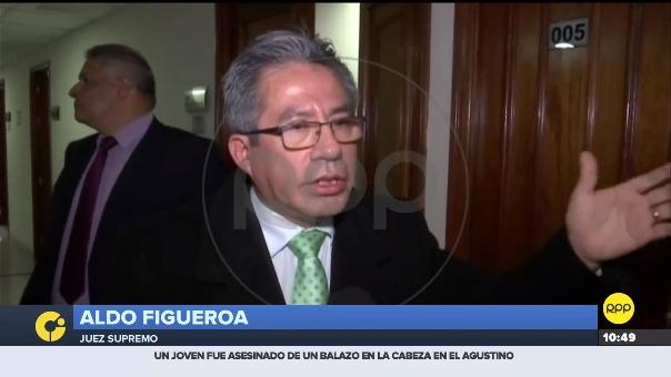 En este video el juez Aldo Figueroa niega que Walter Ríos sea su amigo.