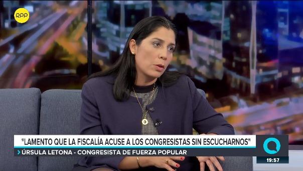 Entrevista a Úrsula Letona en el programa ¿Quién Tiene la Razón? en RPP.
