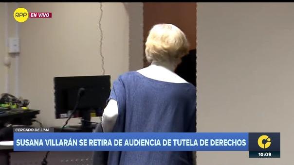 Susana Villarán en audiencia.