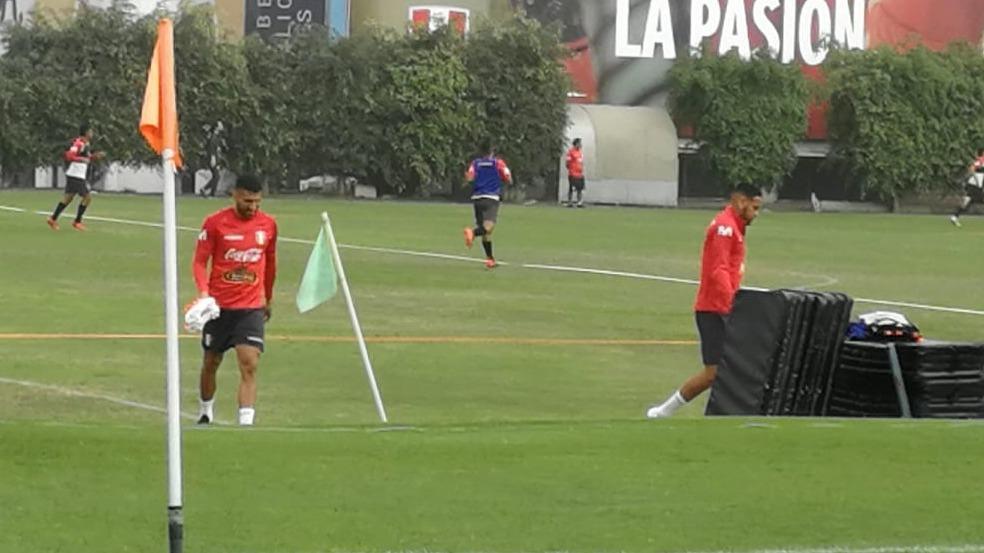 Josepmir Ballón en la Videna con la Selección Peruana.