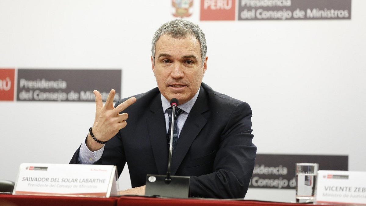 Conferencia de prensa de la PCM.
