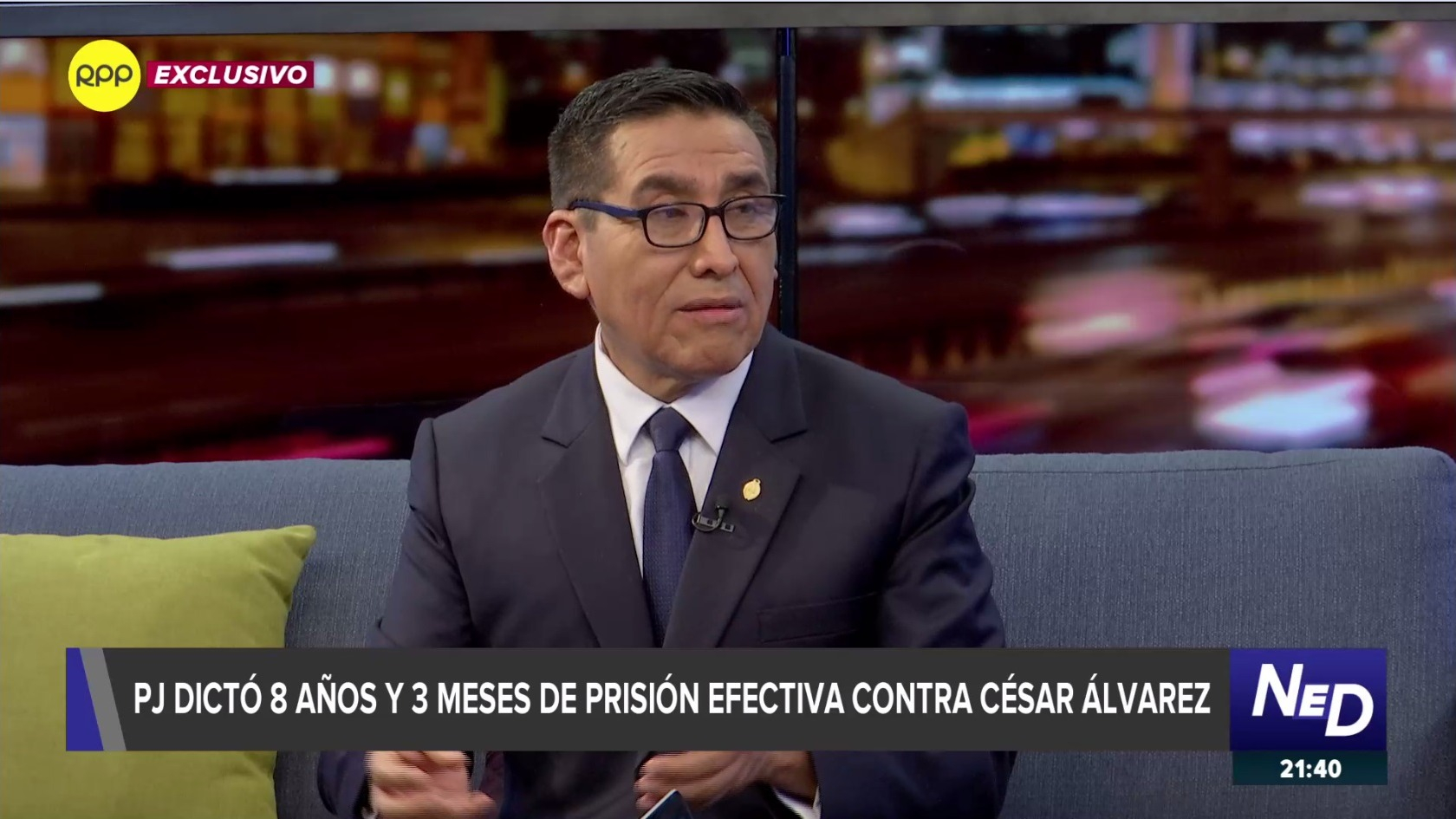 Fiscal Elmer Chirre en entrevista con el programa Nada Está Dicho en RPP.