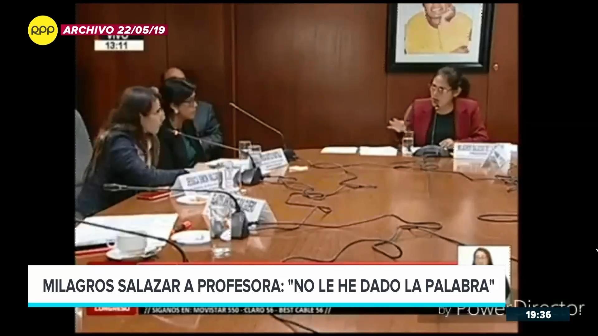 La parlamentaria interrumpió a una docente durante una sesión de la Comisión de Educación.
