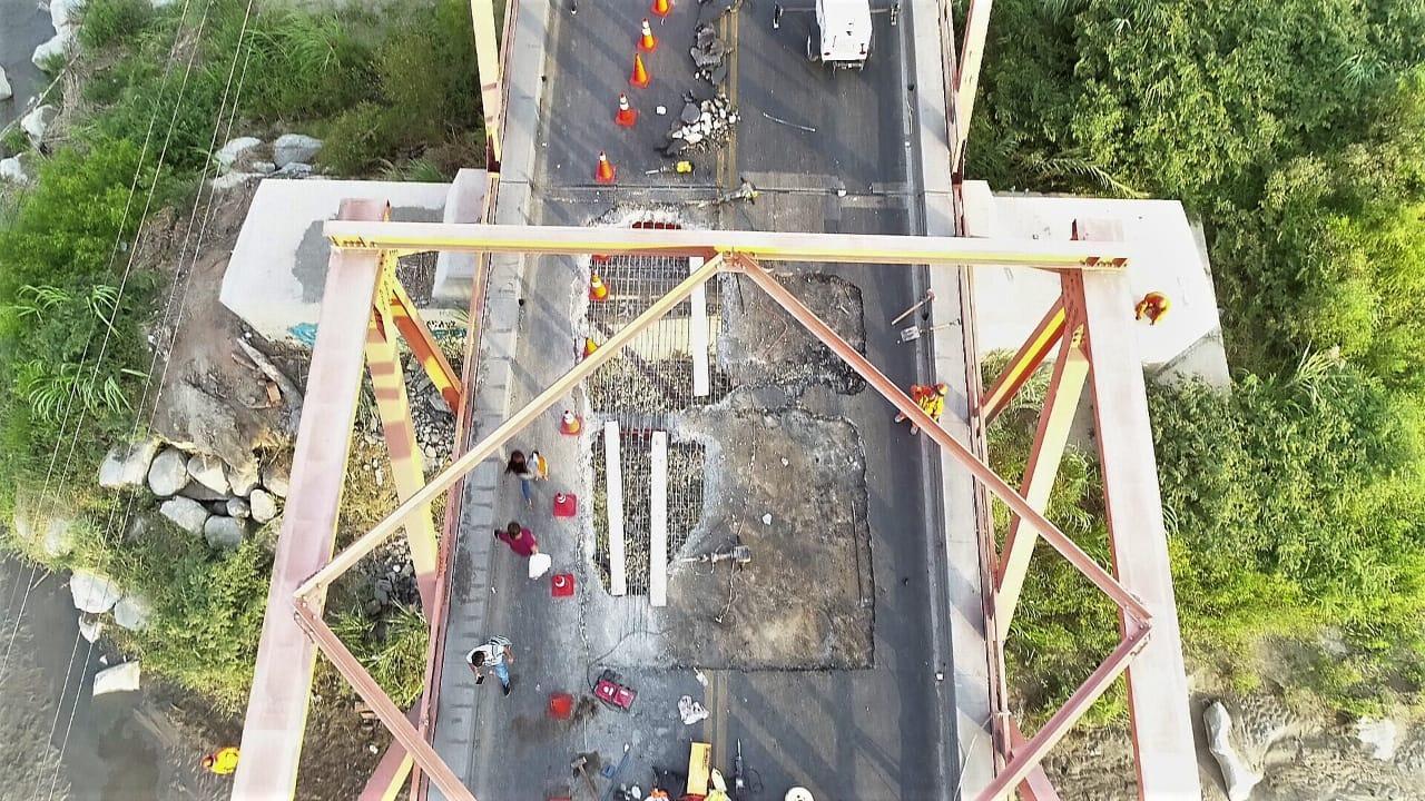 Imágenes muestran la situación en la que se encuentra el Puente de Reque