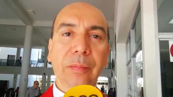 Óscar Alarcón, presidente de la Corte Superior de Justicia de La Libertad.