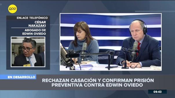 Edwin Oviedo cumple 18 meses de prisión preventiva en la cárcel del Picsi, Chiclayo.