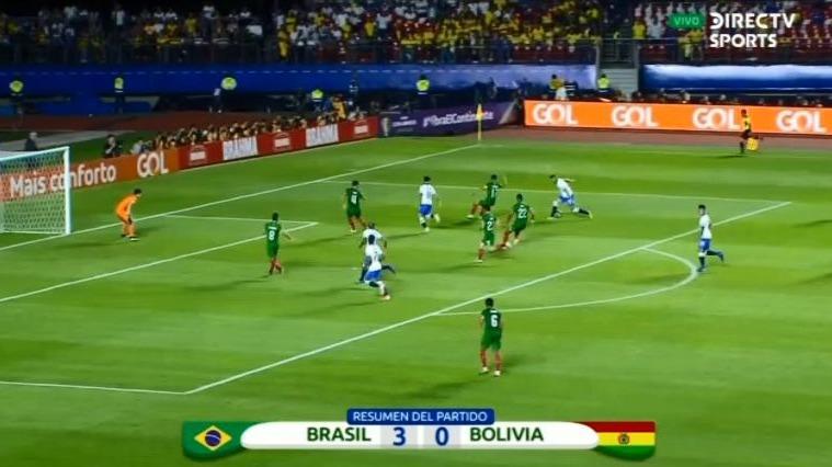 Resumen del partido entre Brasil y Bolivia.