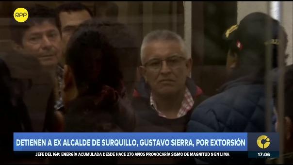 Gustavo Sierra, exalcalde de Suequillo, fue capturado este viernes en un restaurante de San Borja.