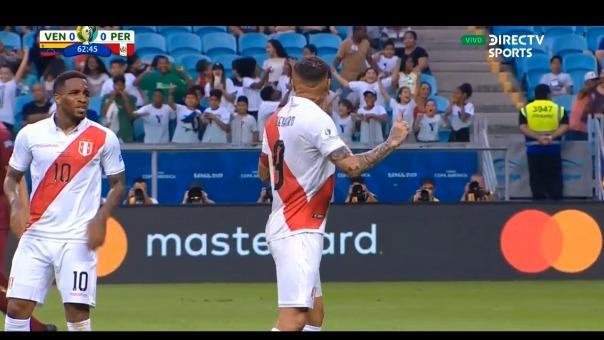 Este fue el gol anulado de Jefferson Farfán ante Venezuela.