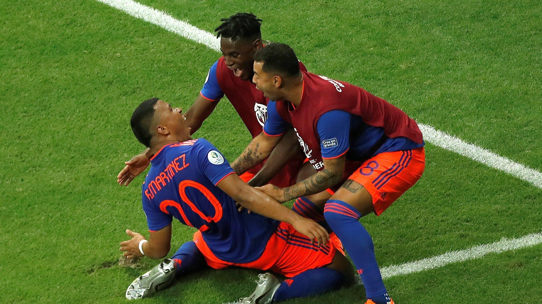Colombia venció 2-0 a Argentina por la Copa América 2019