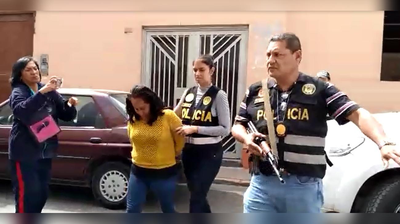 Mujer se encuentra en calidad de detenida.