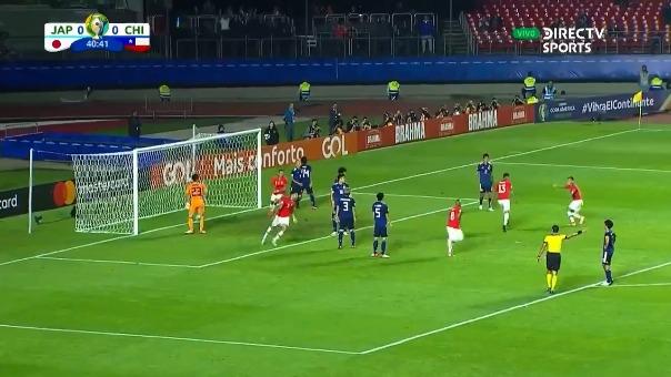 Erick Pulgar anotó el primer gol de la Selección de Chile en la Copa América 2019.