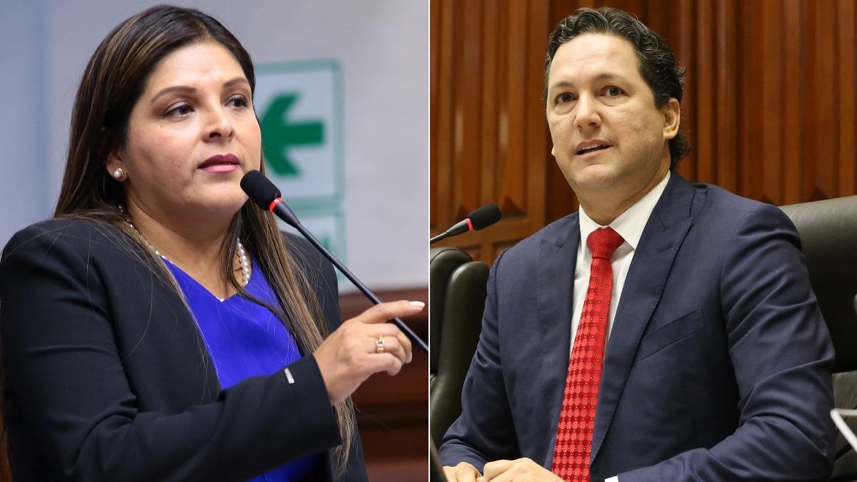 Karina Beteta criticó al presidente del Congreso.