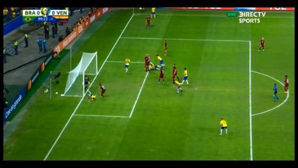 Esta es la falla de Gabriel Jesús ante la Selección de Venezuela.