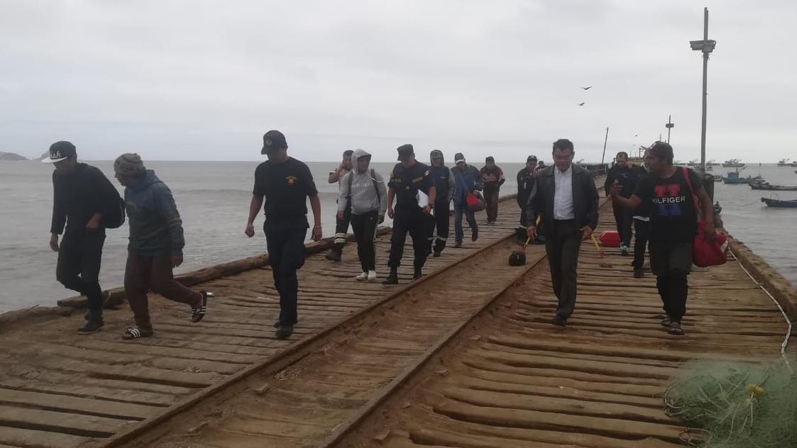 Los pescadores llegaron a salvo hasta el Puerto de Malabrigo.
