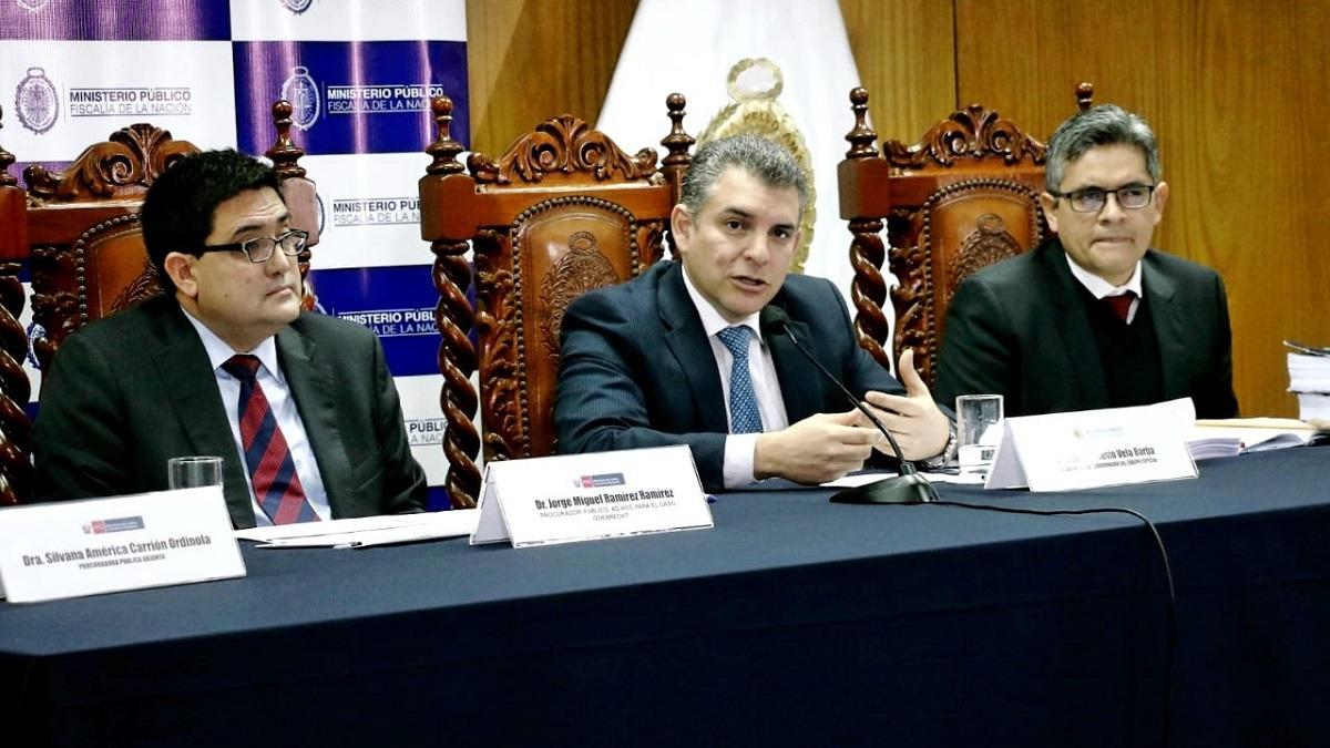 Rafael Vela y José Domingo Pérez, fiscales del Equipo Especial Lava Jato.