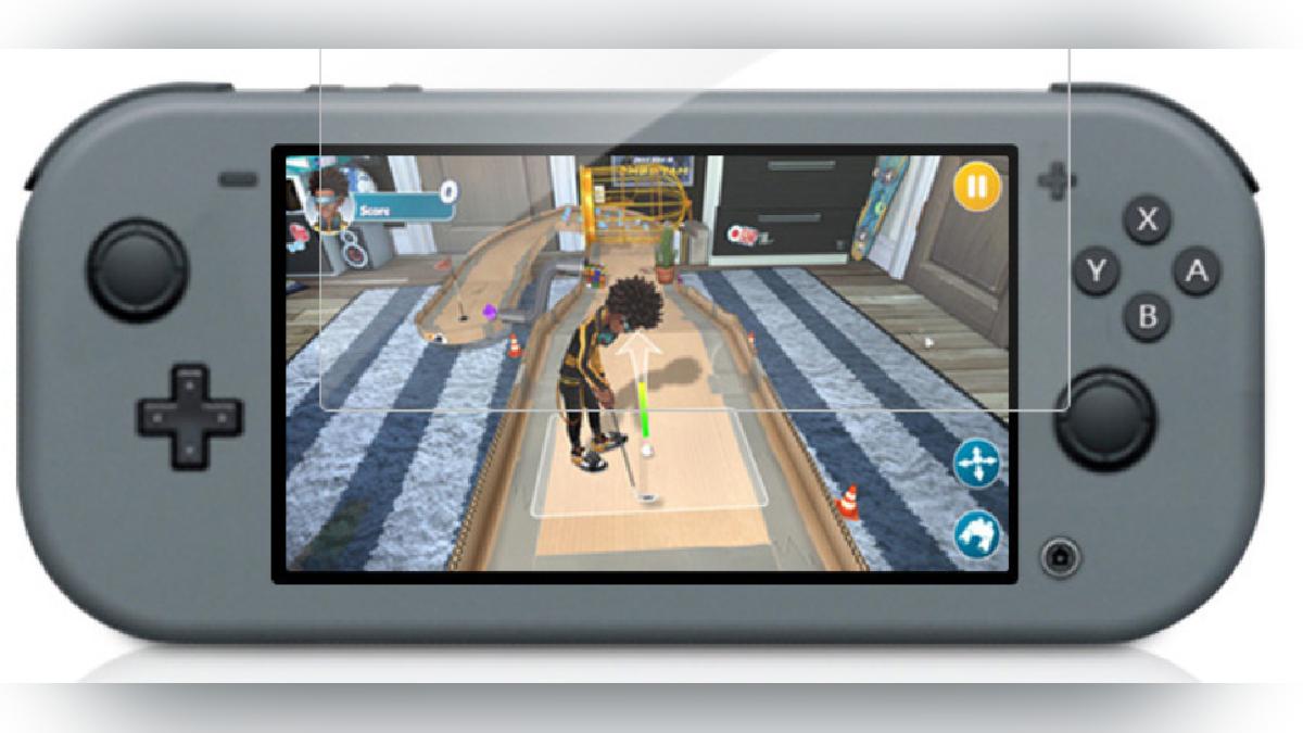 Esta sería la apariencia de la Nintendo Switch Mini.