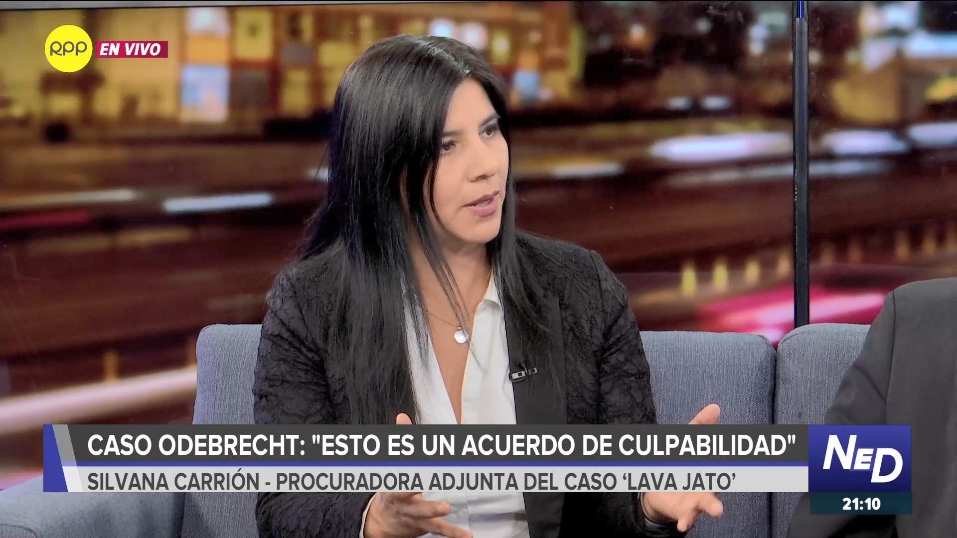 La procuradora Carrión comentó que existen cláusulas para que la Fiscalía investigue más proyectos en los que esté involucrado Odebrecht.