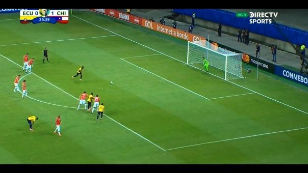 Enner Valencia anotó el empate para Ecuador.