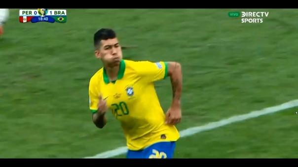 De esta manera fue el segundo gol de Roberto Firmino frente a la Selección Peruana.