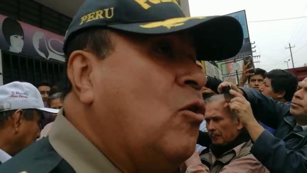 El general PNP Oscar Gonzales advirtió conflictos sociales que tendrían un trasfondo como el ocurrido en Las Bambas.