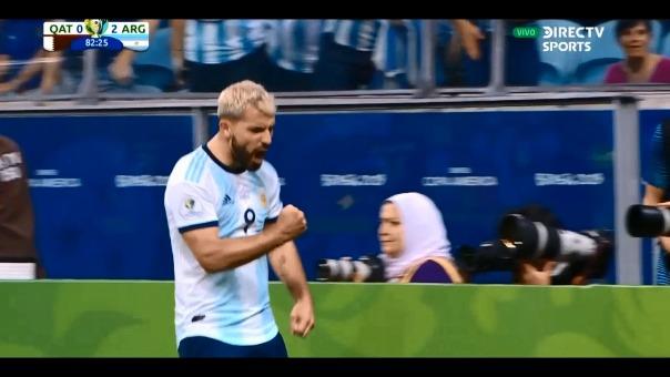 El argentino marcó el 2-0 para Argentina.