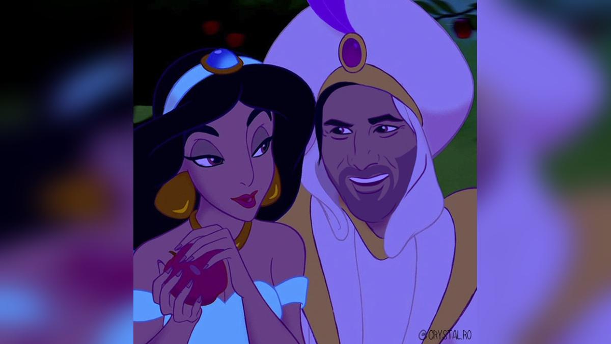Keanu conquista a Jasmín interpretando a Aladdin.