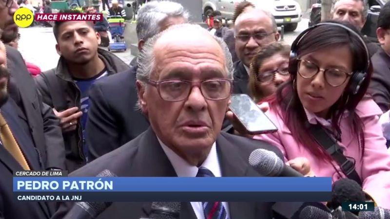 Pedro Patrón se pronunció tras la frustrada juramentación como miembro de la Junta Nacional de Justicia.