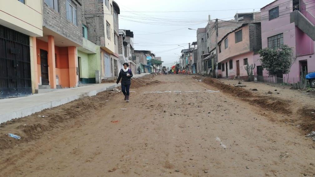 Vecinos protestaron por obras en el distrito.