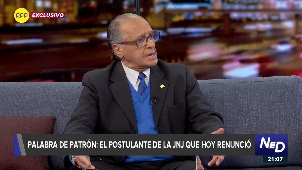 El abogado Pedro Patrón afirma que la Comisión Especial de la JNJ contaba con toda su información judicial.