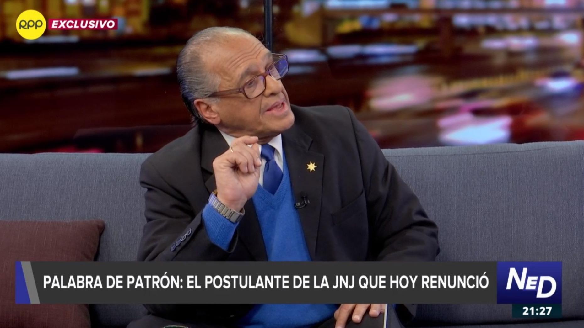 Pedro Patrón Bedoya sostuvo que no recibió ninguna notificación sobre la investigación que Fiscalía le abrió en un caso relacionado al caso Orellana.