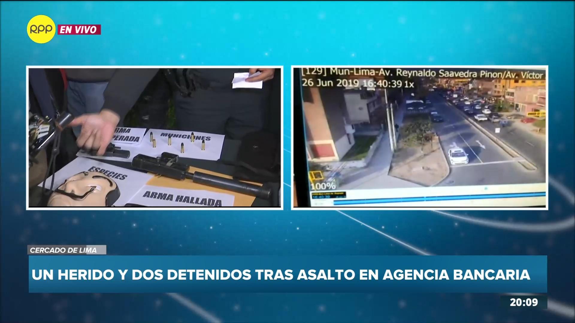 El jefe de la Región Policial Lima comentó que los detenidos serían trasladados a la Unidad de Robos.
