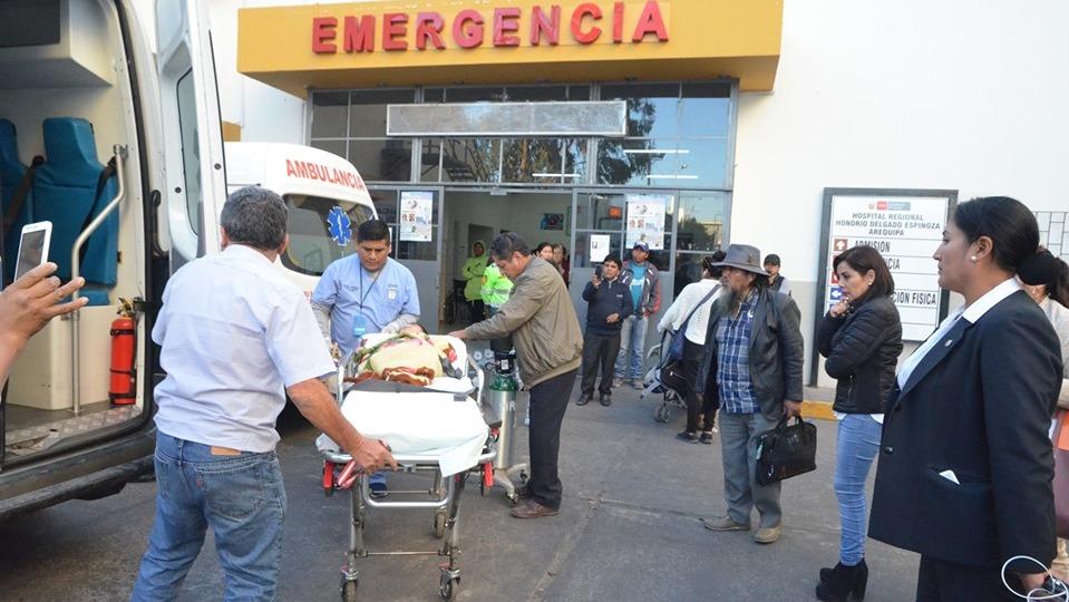 Niños con problemas de salud fueron trasladados a Lima en ambulancia aérea.