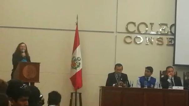 La congresista hizo pública esta denuncia durante la audiencia de la Comisión de Defensa Nacional del Congreso que se realizó en Trujillo.