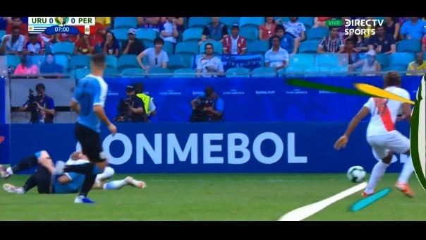 Paolo Guerrero ante Uruguay.