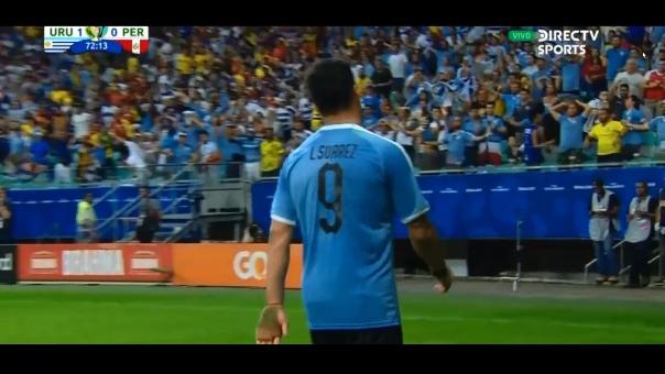 Así fue el gol anulado de Luis Suárez contra la Selección Peruana.