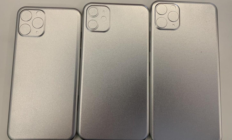 Posibles moldes de los nuevos iPhone en donde se muestran los sensores traseros de los modelos caros y el de dos cámaras en el R