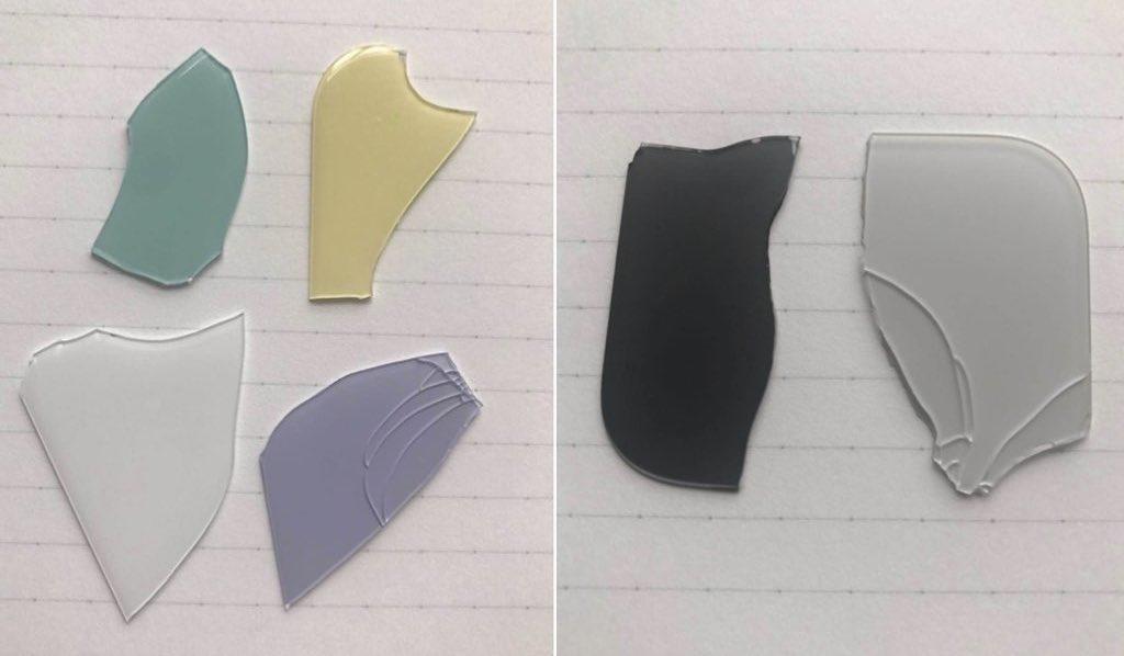 Este sería el nuevo color de los iPhone 2019. A la izquierda la linea R y a la derecha los más caros
