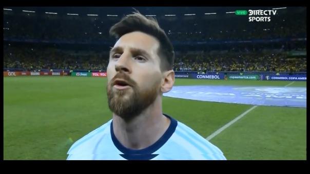 Lionel Messi volvió a entonar el himno de Argentina en la semifinal de Copa América ante Brasil.