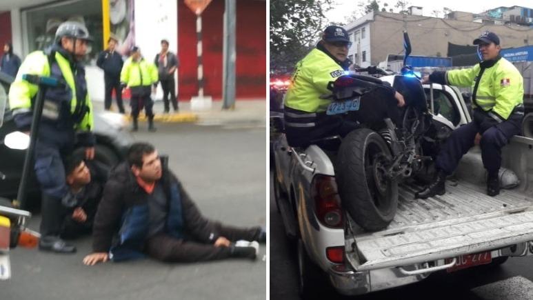 Los delincuentes fueron capturados en el cruce de las avenidas Alejandro Tirado y Petit Thouars.